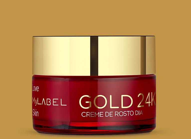 O creme de dia MyLABEL Gold previne e reduz a aparência das linhas finas e rugas.Hidrata profundamente a sua pele por 24h