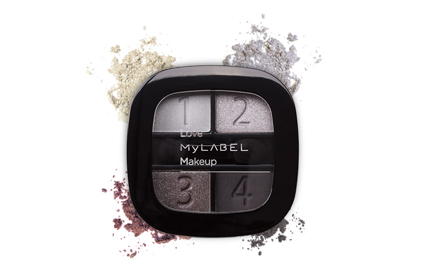 Paleta de Sombras Black Smoky MyLABEL Interior