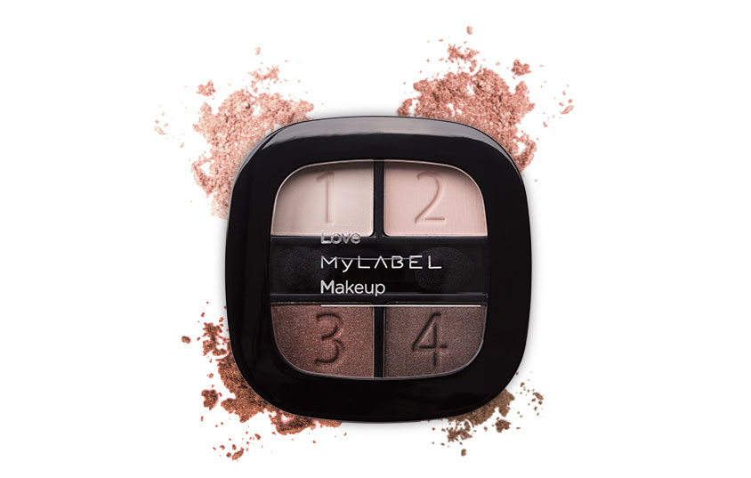 Paleta de Sombras Brown Glam MyLABEL Interior